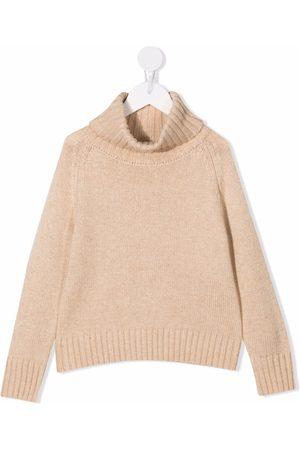 Longlivethequeen Roll-neck knitted jumper - Neutrals