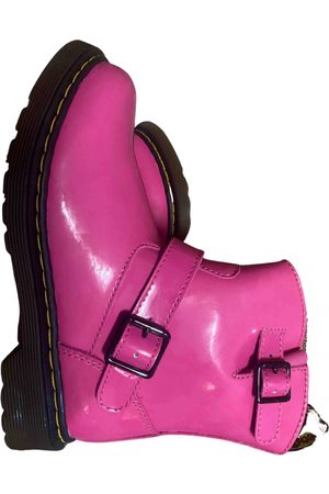 Dr. Martens Chelsea patent leather biker boots