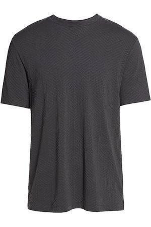 Armani Men T-shirts - Textured Cashmere-Blend Tee