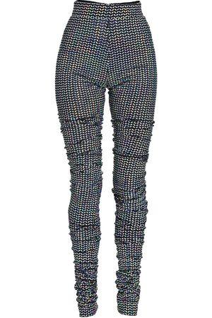 Dolce & Gabbana Women Stretch Pants - Sequin Stretch Leggings