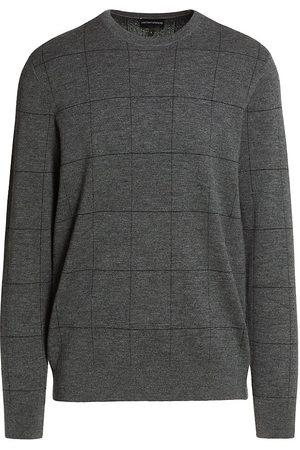 Emporio Armani Windowpane Check Wool Sweater
