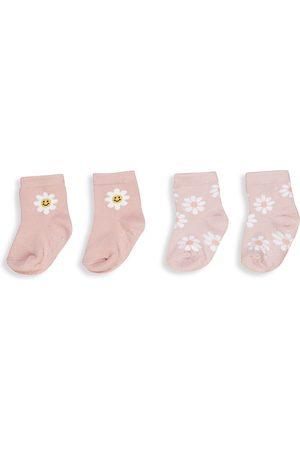 Huxbaby Baby's & Little Girl's Two-Pack Daisy Socks