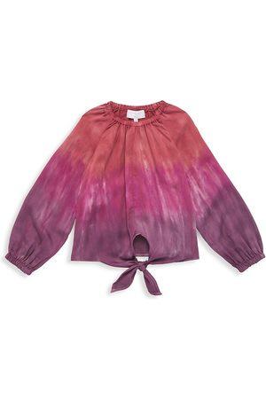 Bella Dahl Little Girl's & Girl's Tie-Dye Tie-Hem Blouse