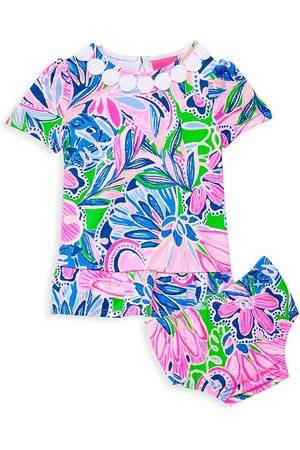Lilly Pulitzer Girls Sets - Baby Girl's Two-Piece Dominque Dress & Bloomers Set