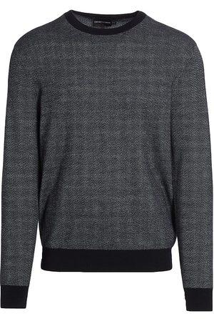Emporio Armani Men Sweatshirts - Jacquard Zigzag Sweater