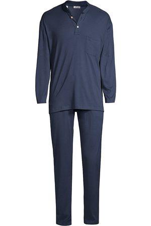 Kiton Cotton & Cashmere Long-Sleeve Pajama Set