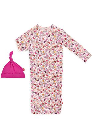 Magnetic Me Girls Hats - Baby Girl's 2-Piece Heart To Heart Magnetic Nightgown & Hat Set
