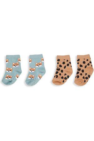 Huxbaby Socks - Baby's & Little Kid'sTwo-Pack Shiba & Animal Socks