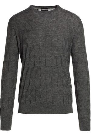 Emporio Armani Men Sweatshirts - Geo Print Solid Sweater