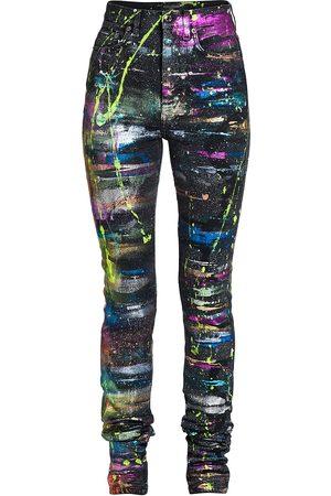 Dolce & Gabbana Splatter Paint Skinny Jeans