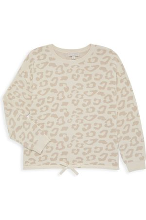 Barefoot Dreams Little Girl's & Girl's Slouchy Leopard Pullover