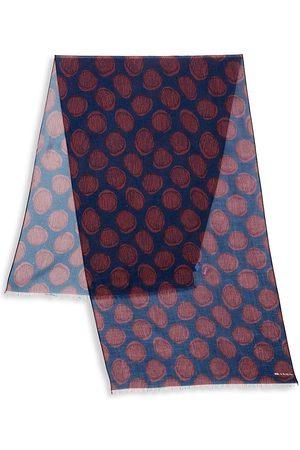 Kiton Wool & Cashmere Patterned Scarf