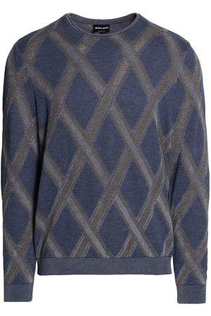 Armani Men Sweatshirts - Diamond-Knit Crewneck Sweater