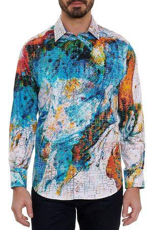 Robert Graham Watercolor Grid Sport Shirt