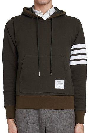 Thom Browne Striped Sleeve Cotton Hoodie