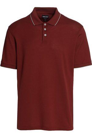 Armani Men Polo Shirts - Contrast-Piped Polo Shirt