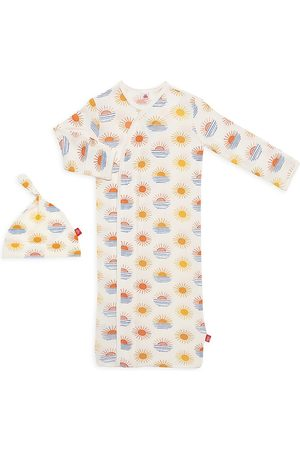 Magnetic Me Girls Hats - Baby Girl's 2-Piece Sol Mates Magnetic Nightgown & Hat Set