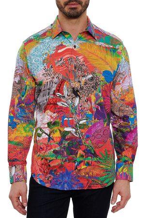 Robert Graham Men Denim - Garden Print Sport Shirt
