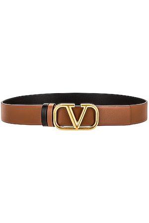 VALENTINO GARAVANI VLogo Buckle Belt in Brown
