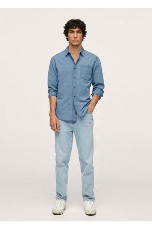 MANGO Regular-fit denim shirt with pocket