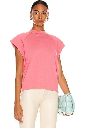 REMAIN Verona High Neck Knit Top in Pink