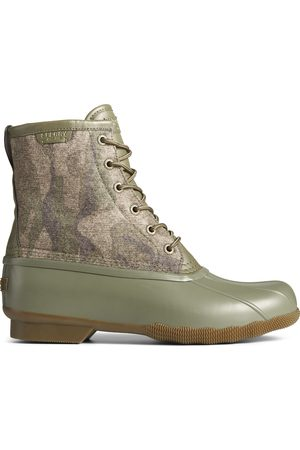Sperry Top-Sider Men Boots - Men's Sperry Saltwater Camo Duck Boot OliveCamo, Size 11M