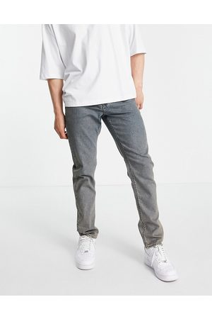 ASOS Stretch slim jeans in dirty tinted mid wash-Blues