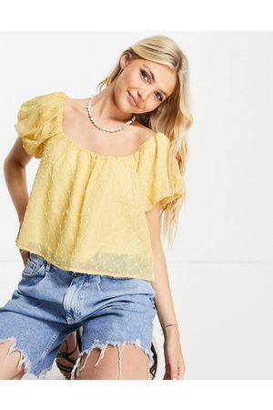 Skylar Rose Textured scoop neck blouse in