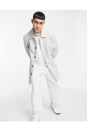 ASOS Shower resistant trench coat in -Grey