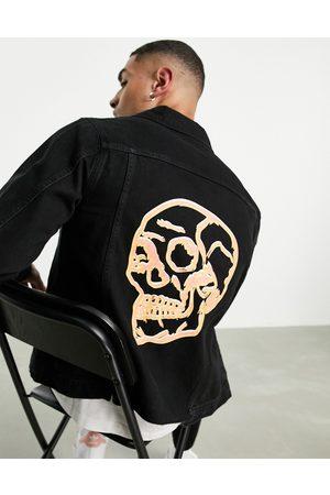 Bolongaro 3d skull denim jacket