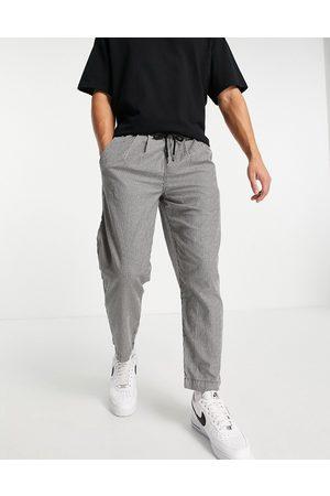 ASOS Wide leg pants in micro check