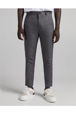 Bershka Smart skinny pants in texture-Grey