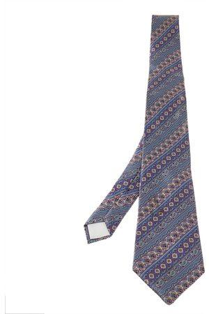 Lanvin Pale Paisley Pattern Print Silk Tie