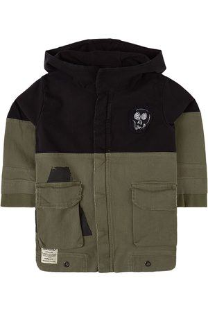 Nununu Deconstructed Army Coat /Olive - 3-4 Years - - Spring and fall jackets