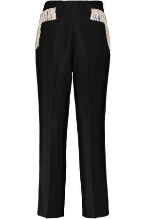 RODARTE Women Skinny Pants - Fringe-embellished slim pants