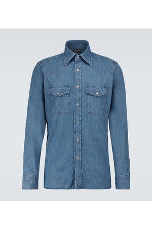 Tom Ford Long-sleeved denim shirt