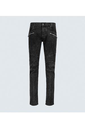 Balmain Slim-fit stretch-cotton jeans