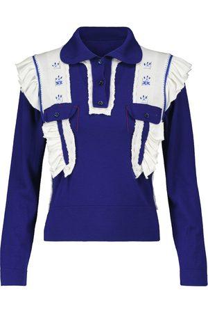 Maison Margiela Women Polo Shirts - Wool and cotton polo sweater
