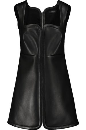 VERSACE Women Mini Dresses - Leather minidress