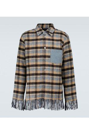 Acne Studios Fringed wool overshirt