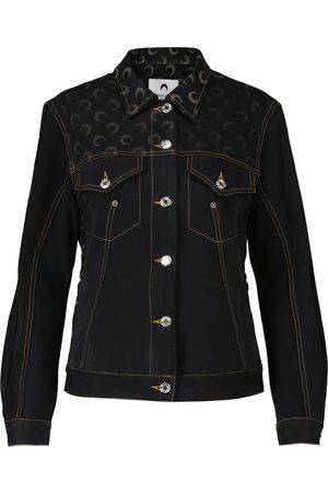 Marine Serre Printed regenerated denim jacket