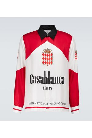 Casablanca Men Long sleeves - Printed silk twill shirt