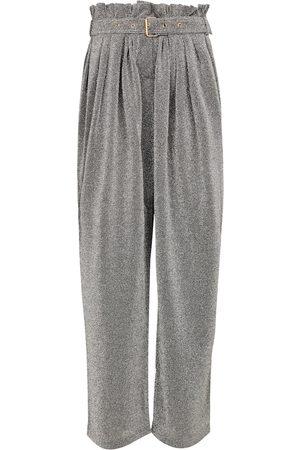 Balmain Women Wide Leg Pants - Lurex®-blend wide-leg pants