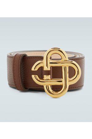 Casablanca Logo leather belt