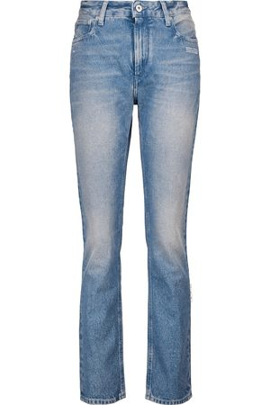 OFF-WHITE Women High Waisted - High-rise straight jeans