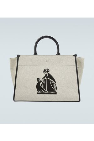 Lanvin In&Out canvas tote bag