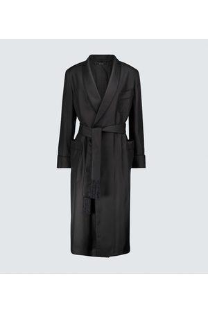 Tom Ford Men Bathrobes - Silk velvet-lined robe
