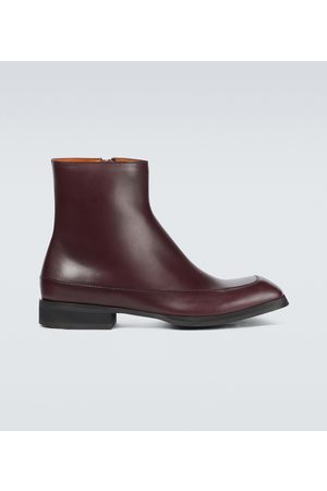 The Row Garden leather boots