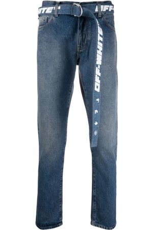 OFF-WHITE Tapered Belted Jeans