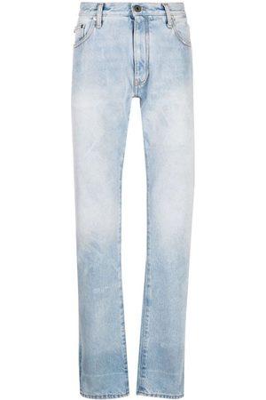 OFF-WHITE Men Slim - Diag-Print Slim-Cut Jeans